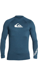 2021 Quiksilver Mens All Time Long Sleeve Rash Vest EQYWR03240 - Majolica Blue