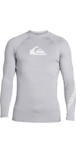 2021 Quiksilver Mens All Time Long Sleeve Rash Vest EQYWR03240 - Steel Heather