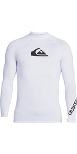 2021 Quiksilver Mens All Time Long Sleeve Rash Vest EQYWR03240 - White