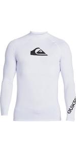 2020 Quiksilver Mens All Time Long Sleeve Rash Vest EQYWR03240 - White