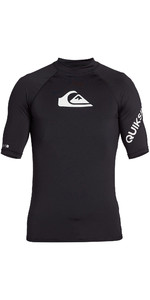 2021 Quiksilver Mens All Time Short Sleeve Rash Vest EQYWR03228 - Black