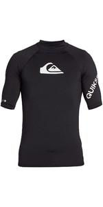 2020 Quiksilver Mens All Time Short Sleeve Rash Vest EQYWR03228 - Black