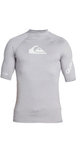 2021 Quiksilver Mens All Time Short Sleeve Rash Vest EQYWR03228 - Sleet Heather