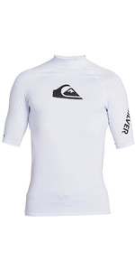 2021 Quiksilver Mens All Time Short Sleeve Rash Vest EQYWR03228 - White