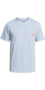 2021 Quiksilver Mens Heritage Heather UPF 50 Surf Tee EQYWR03321 - True Navy
