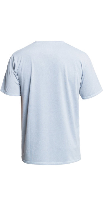 2021 Quiksilver Mens Heritage Heather UPF 50 Surf Tee EQYWR03321 - Blue Tint