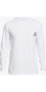 2020 Quiksilver Mens Heritage Long Sleeve Rash Vest EQYWR03249 - White