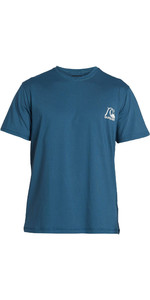 2020 Quiksilver Mens Heritage Short Sleeve Rash Vest EQYWR03236 - Majorlica Blue