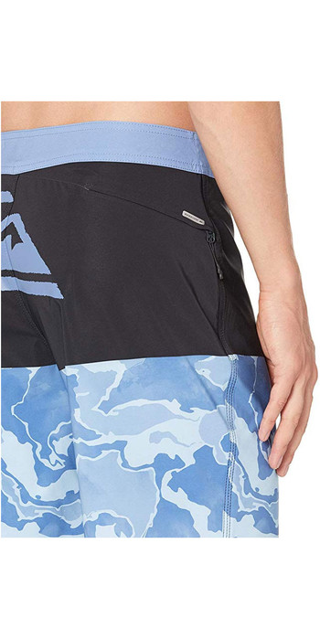 """2019 Quiksilver Mens Highline Division Deluxe 19"""" Boardshorts Blue Yonder EQYBS04295"""