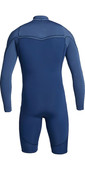 2021 Quiksilver Mens Highline Limited 2mm Chest Zip Shorty Wetsuit EQYW403012 - Iodine Blue / Cascade Blue