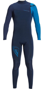 2021 Quiksilver Mens Highline Lite 3/2mm Chest Zip Wetsuit EQYW103099 - Night Indigo