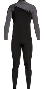 2019 Quiksilver Mens Highline Ltd Monochrome 4/3mm Chest Zip Hydrolock Wetsuit Black / Jet Black EQYW103074