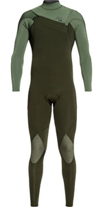 2019 Quiksilver Mens Highline Ltd Monochrome 4/3mm Chest Zip Hydrolock Wetsuit Ivy / Shade Olive EQYW103074