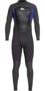 2019 Quiksilver Mens Prologue 5/4/3mm Back Zip Wetsuit Black / Nite Blue EQYW103072