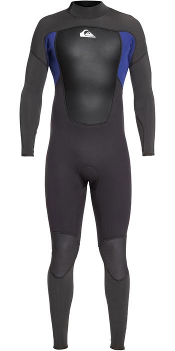 2021 Quiksilver Mens Prologue 5/4/3mm Back Zip Wetsuit Black / Nite Blue EQYW103072
