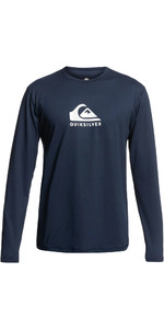 2021 Quiksilver Mens Solid Streak Long Sleeve Rash Vest EQYWR03311 - Navy