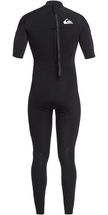2021 Quiksilver Mens Syncro 2mm Back Zip Short Sleeve Wetsuit EQYW303013 - Black / Silver