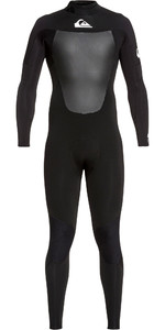 2019 Quiksilver Mens Syncro 5/4/3mm Back Zip Wetsuit Black / White EQYW103088