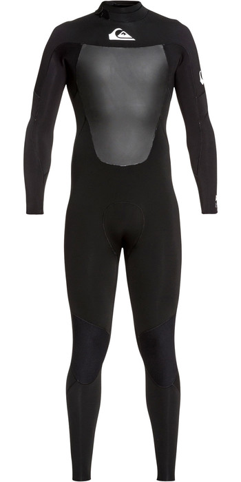 2020 Quiksilver Mens Syncro 3/2mm Back Zip Wetsuit Black / White EQYW103084