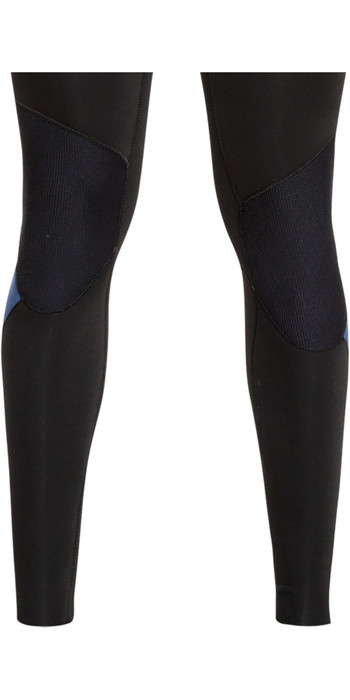 2021 Quiksilver Mens Syncro 3/2mm Chest Zip Wetsuit Black / Iodine Blue EQYW103085