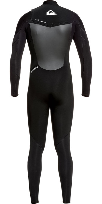 2021 Quiksilver Mens Syncro 3/2mm Chest Zip Wetsuit Black / White EQYW10308