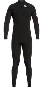 2021 Quiksilver Mens Syncro 3/2mm Chest Zip Wetsuit Black / White EQYW10308