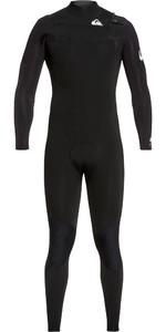 2020 Quiksilver Mens Syncro 3/2mm Chest Zip Wetsuit Black / White EQYW10308