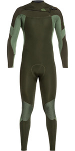 2020 Quiksilver Mens Syncro 3/2mm Chest Zip Wetsuit Dark Ivy / Shade Olive EQYW103085