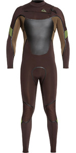 2020 Quiksilver Mens Syncro Plus 4/3mm Chest Zip Wetsuit Velvet Brown / Dark Beech EQYW103082