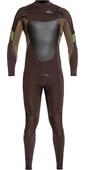 2021 Quiksilver Mens Syncro Plus 4/3mm Chest Zip Wetsuit Velvet Brown / Dark Beech EQYW103082