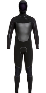 2019 Quiksilver Mens Syncro Plus 4/3mm Hooded Chest Zip Wetsuit Black EQYW203012