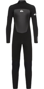 2021 Quiksilver Junior Boys Prologue 4/3mm Back Zip Wetsuit Black EQBW103038