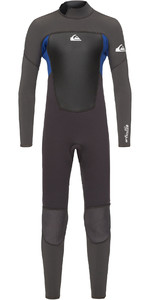 2021 Quiksilver Junior Boys Prologue 4/3mm Back Zip Wetsuit Jet Black / Nite Blue EQBW103038