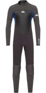 2020 Quiksilver Junior Boys Prologue 4/3mm Back Zip Wetsuit Jet Black / Nite Blue EQBW103038