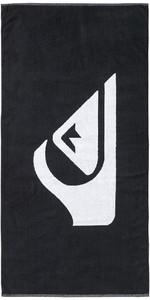 2019 Quiksilver Woven Logo Beach Towel Black EQYAA03108