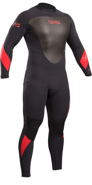 2019 Gul Response 4/3mm Back Zip GBS Wetsuit Black RE1246-B4