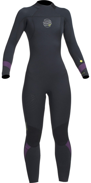 2018 Gul Response FX Womens 5/4mm GBS Back Zip Wetsuit Black / Mulberry RE1266-B1