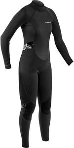 2021 Gul Womens Response 3/2mm Back Zip Wetsuit Re1319-B9 - Black