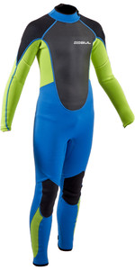 2021 Gul Junior Response 3/2mm Back Zip Wetsuit RE1322-B9 - Zafir / Lime