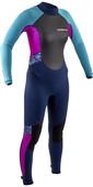 2021 Gul Junior Response 3/2mm Back Zip Wetsuit RE1323-B9 - Navy / Pink