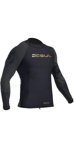 2018 Gul Viper Recore Long Sleeve Thermal Rash Vest - Black RG0351