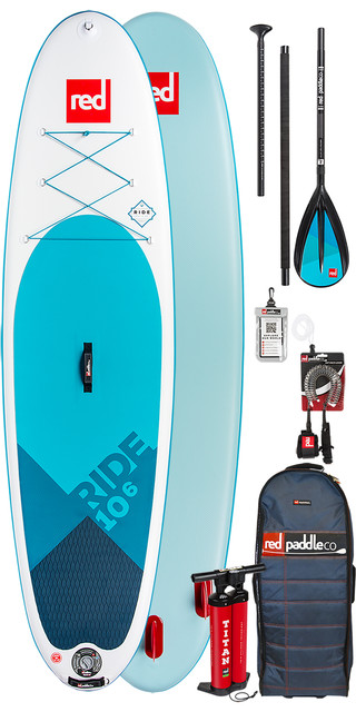 2019 Red Paddle Co Ride 10'6 Inflatable Stand Up Paddle Board + Bag, Pump, Paddle & Leash Picture