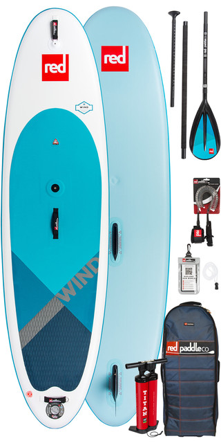 2019 Red Paddle Co Windsup 10'7 Inflatable Stand Up Paddle Board + Bag, Pump, Paddle & Leash Picture