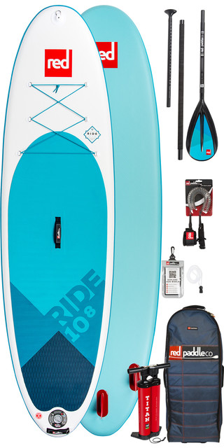 2019 Red Paddle Co Ride 10'8 Inflatable Stand Up Paddle Board + Bag, Pump, Paddle & Leash Picture