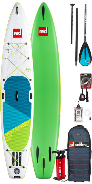 2019 Red Paddle Co Voyager 13'2 Inflatable Stand Up Paddle Board + Bag, Pump, Paddle & Leash Picture
