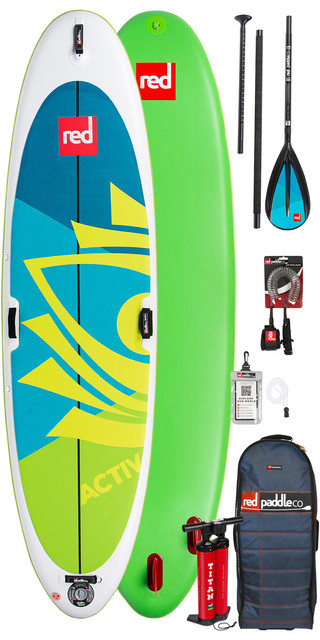 2019 Red Paddle Co Activ Yoga 10'8 Inflatable Stand Up Paddle Board + Bag, Pump, Paddle & Leash Picture
