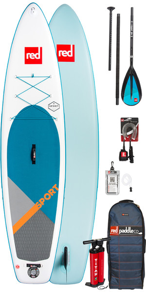 2019 Red Paddle Co Sport 11'0 Inflatable Stand Up Paddle Board + Bag, Pump, Paddle & Leash