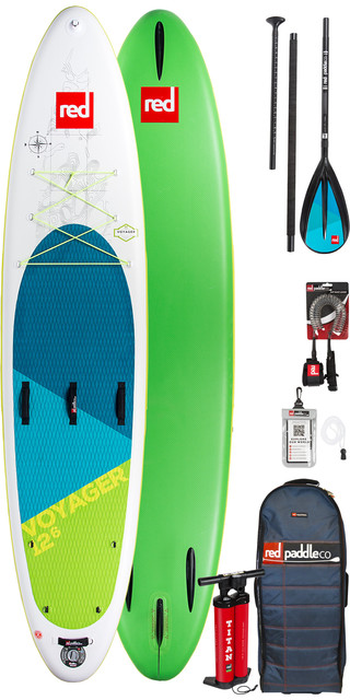 2019 Red Paddle Co Voyager 12'6 Inflatable Stand Up Paddle Board + Bag, Pump, Paddle & Leash Picture