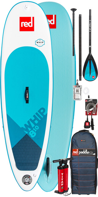 2019 Red Paddle Co Whip 8'10 Inflatable Stand Up Paddle Board + Bag, Pump, Paddle & Leash Picture