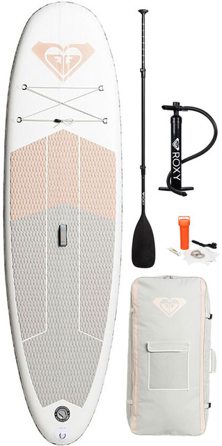 2018 Roxy Isup 9'6 Inflatable Stand Up Paddle Board Sunrise Pink Inc. Pump, Paddle, Bag & Leash Eglisrx096 Picture